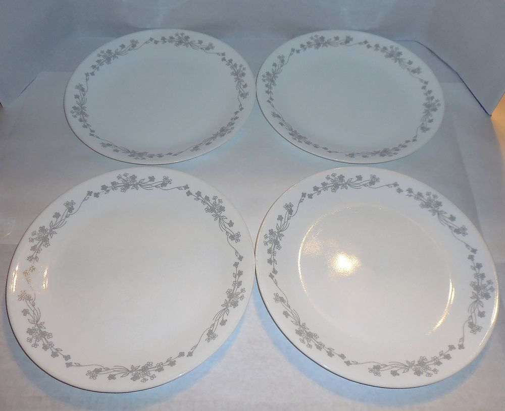 4 Corning Corelle Ribbon Bouquet 10\