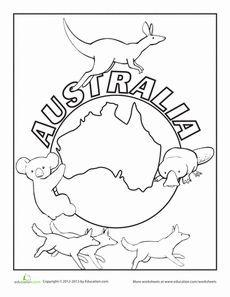 australia coloring page - Australia Coloring Pages Printable