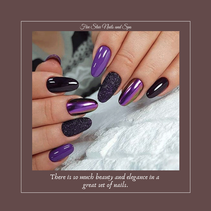 There Is So Much Beauty And Elegance In A Great Set Of Nails Nails Shreveportnails Fivestarnailspa Metallic Nails Elegant Nails Simple Elegant Nails