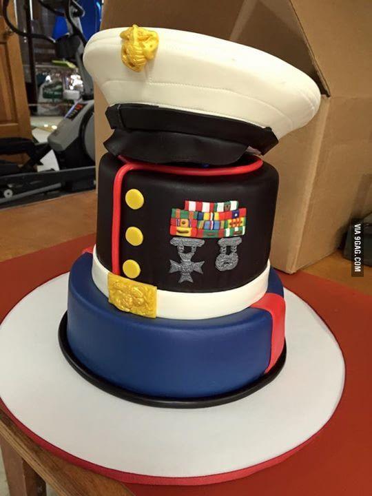 Birthday Cake Staff Sargeant Marines
