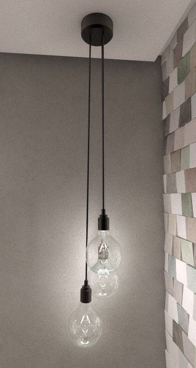 hanging bulb pendant light 3d max Decoracion Pinterest - lamparas para escaleras