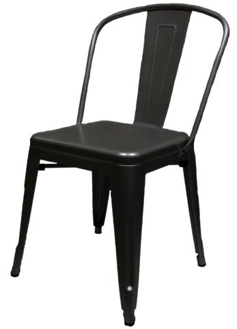 Xl Industrial Tolix Style Matte Black Chair Black Chair Metal