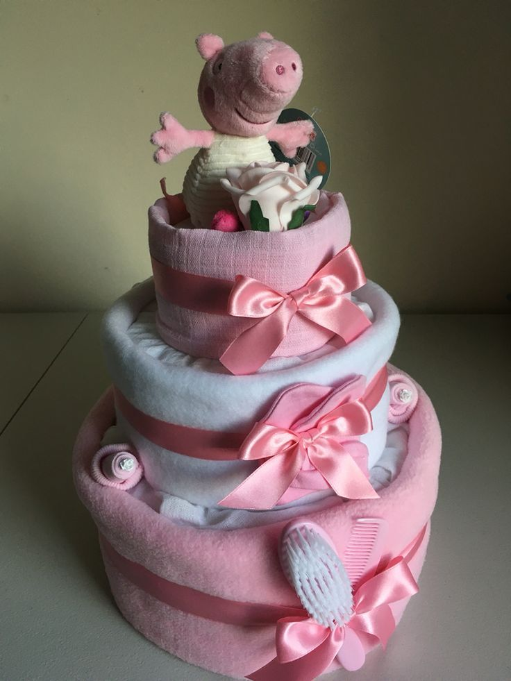 Love This Our New Peppa Pig Three Tier Nappy Cake Good Child Bathe