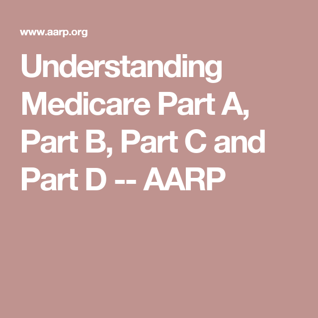 Aarp Health Insurance >> Understanding Medicare Part A Part B Part C And Part D Aarp