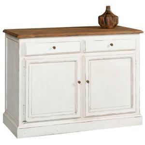 Credenza stile provenzale top in legno 2 sportelli e 2 cassetti ...