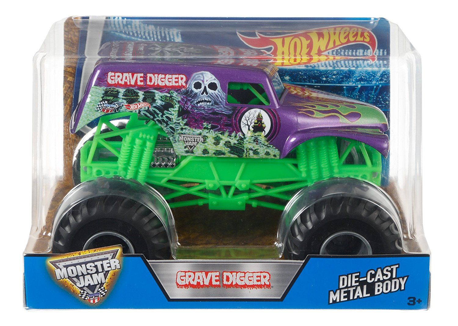 Amazon.com: Hot Wheels Monster Jam Grave Digger Truck, Purple: Toys & Games