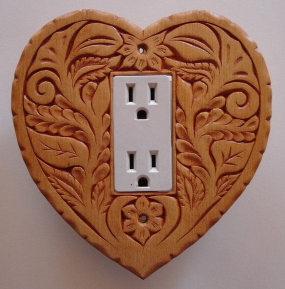 Heart shaped toggle switch or outlet cover plate by creativemind44, $28.00