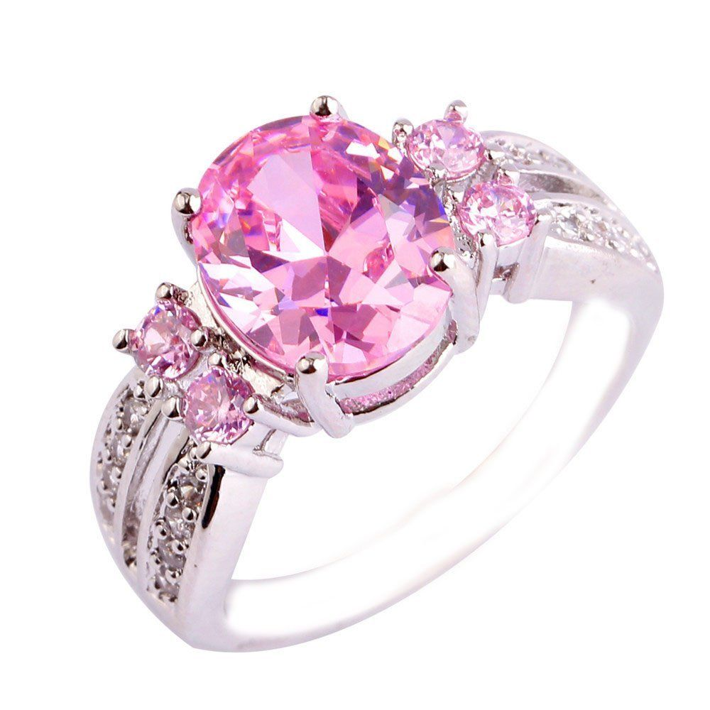 Empsoul Women\'s 925 Sterling Silver Natural Chic Filled 3 Carat Pink ...