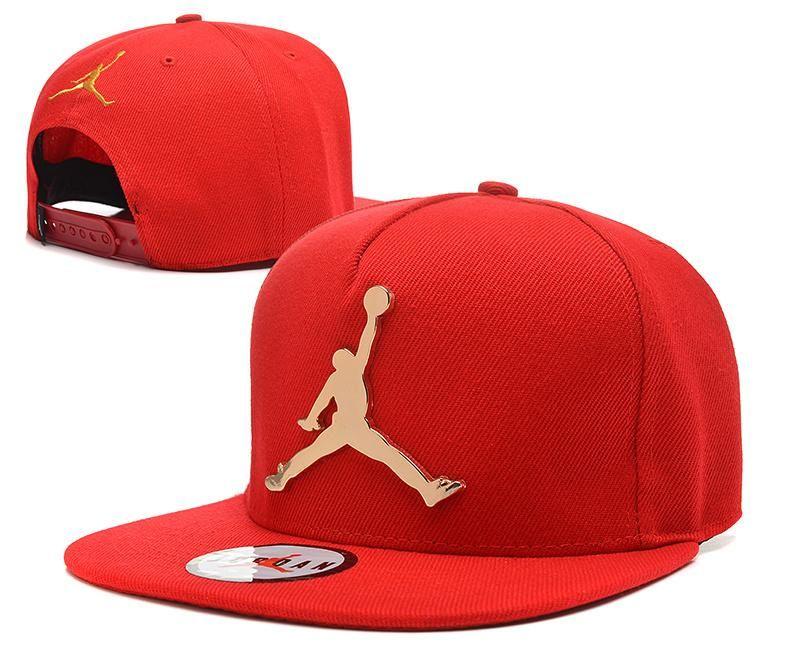 0d8568ce386951 Mens Air Jordan The Jumpman Iron Gold Metal Logo A-Frame 2016 Big Friday  Deals Snapback Cap - Red