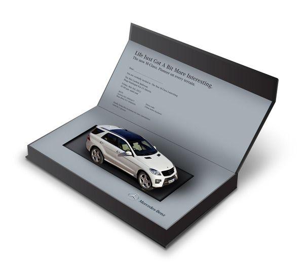 New Mercedes Benz MClass Launching Invitation PopUp by Ajie – Launching Invitation Card