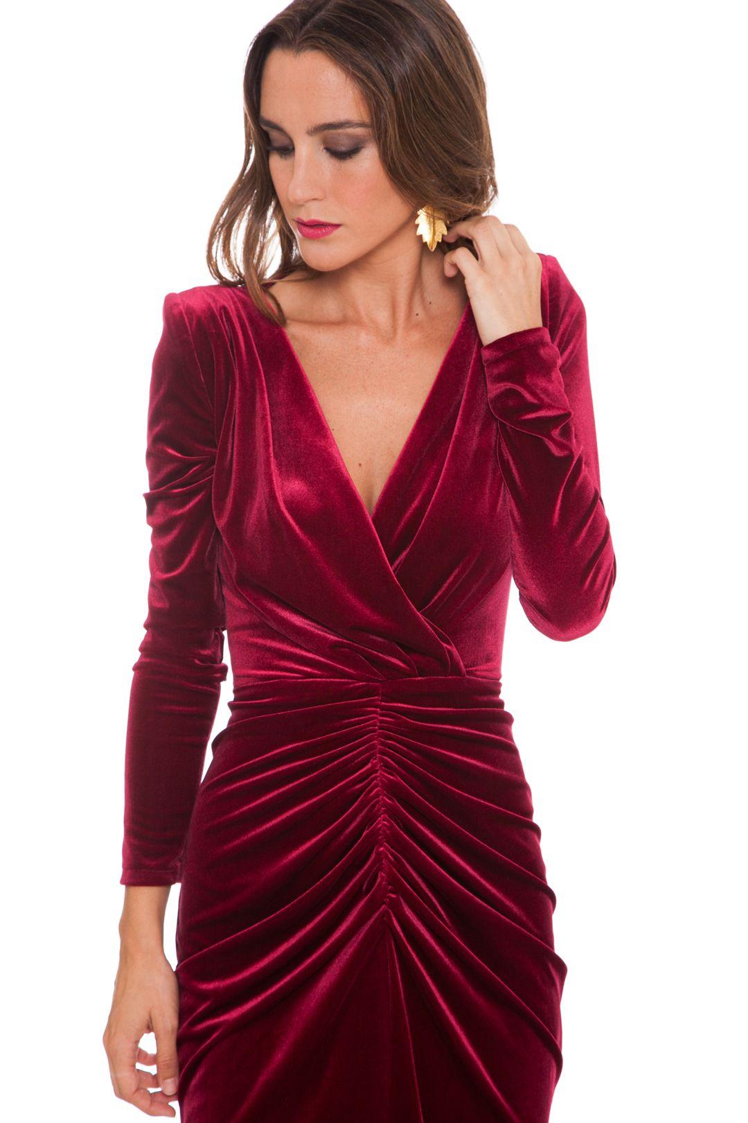 Vestido Eugenia Velvet Burdeos En 2019 Vestidos Boda