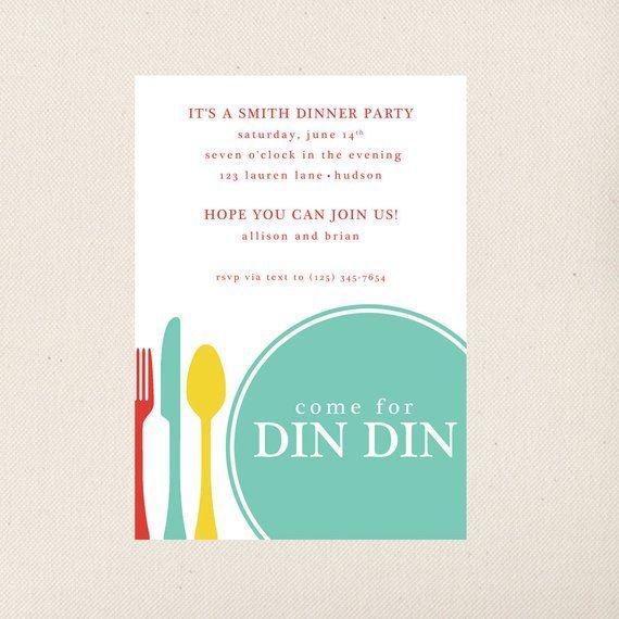 Dinner Party Invitation Dinner Invitation Template Dinner