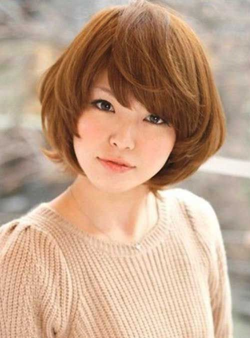 Japanese Short Hairstyle For Round Face In 2020 Japanese Hairstyle Asian Hair Asian Haircut