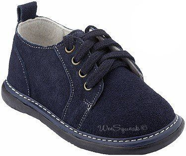 e8432730a2c Lace Up Shoe, Navy Suede | Products | Squeaky shoes, Baby boy ...