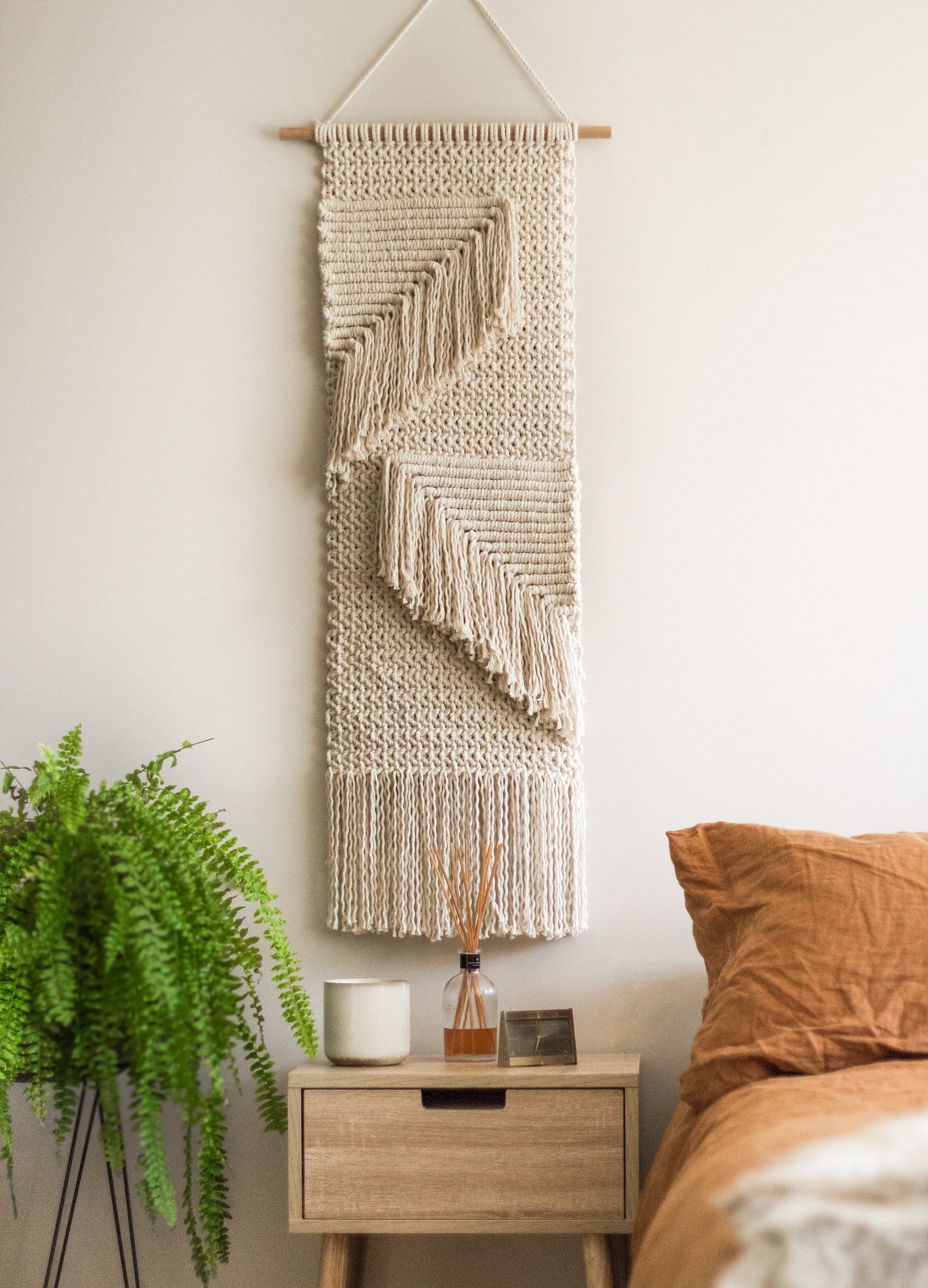 Hanging Wall Mirror With Macrame Round Bohemian Handmade Cotton Rope Decorative Mirror For Apartment Living Room Bedroom Entryways Mimbarschool Com Ng