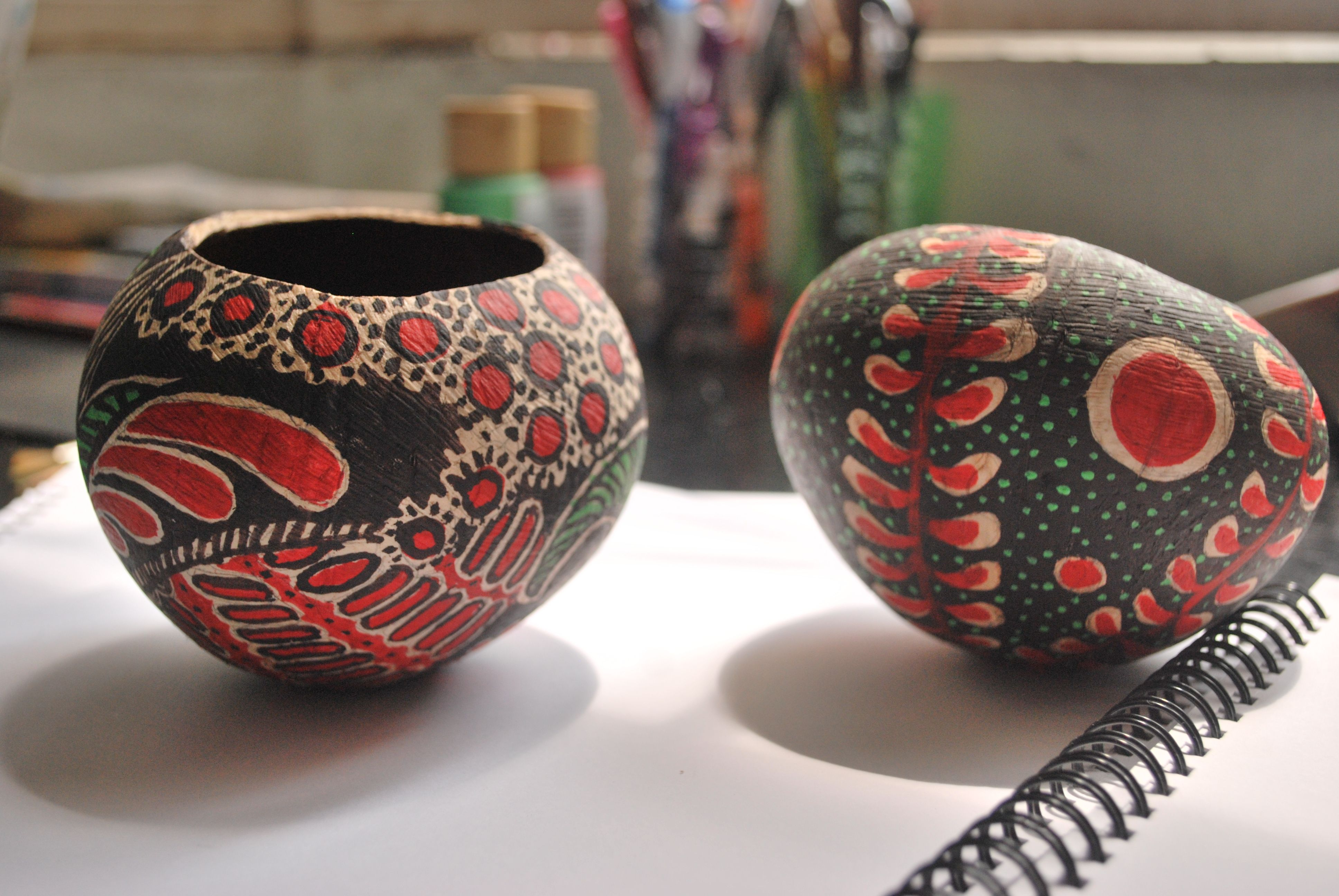 finally step 5...painted coconut shells :) | Shell crafts, Crafts, Coconut shell crafts
