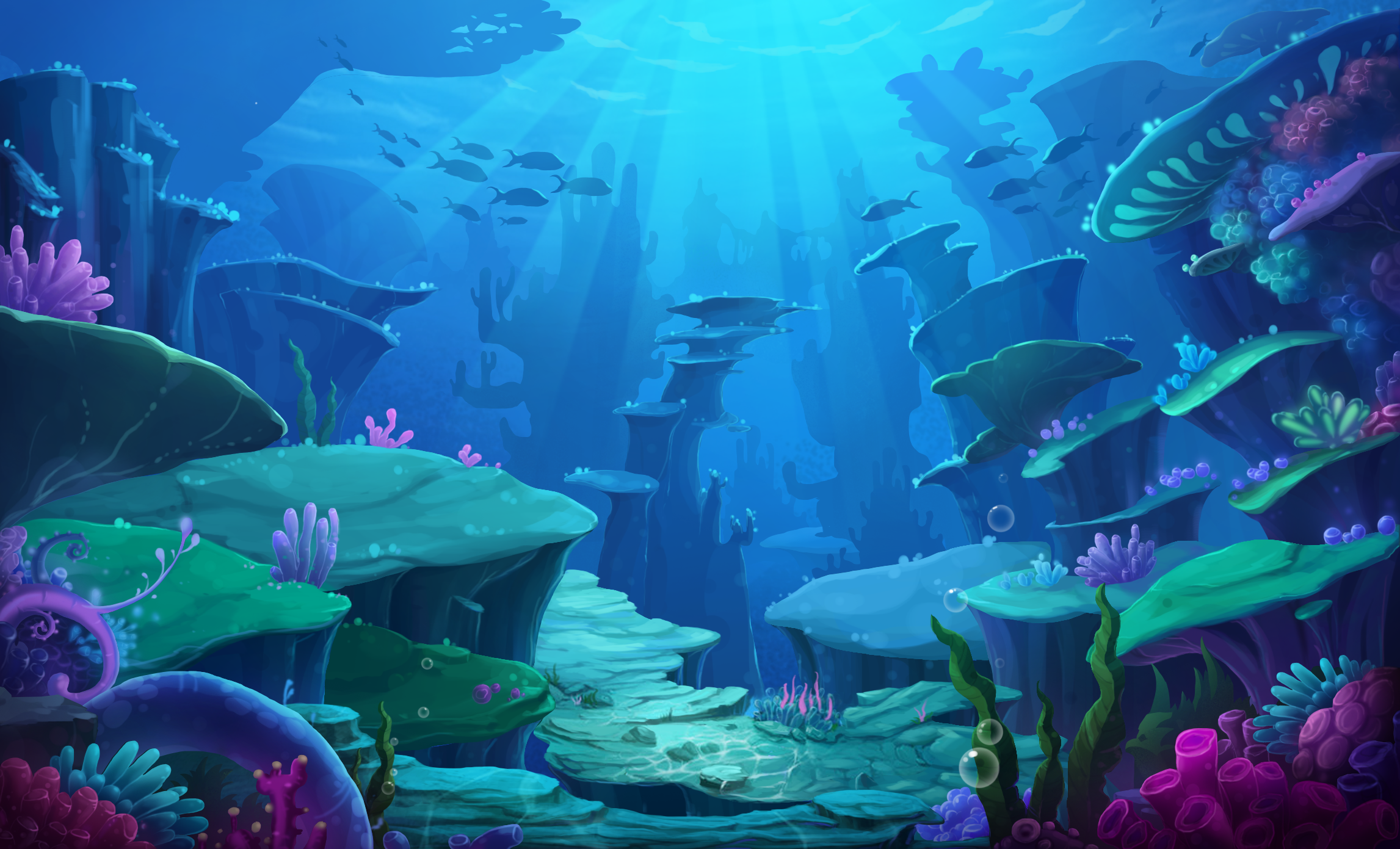Pin By Fatbana On 55555 Environment Concept Art Underwater Art Underwater Painting