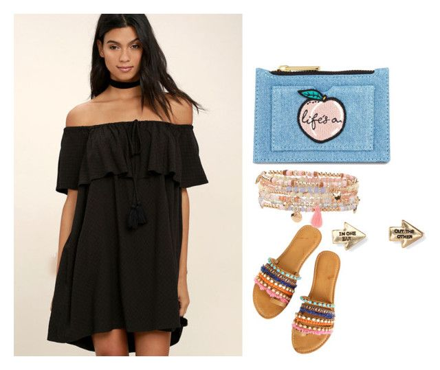 """""""Untitled #8"""" by destiny-massey on Polyvore featuring LULUS, Accessorize, Aéropostale and Skinnydip"""