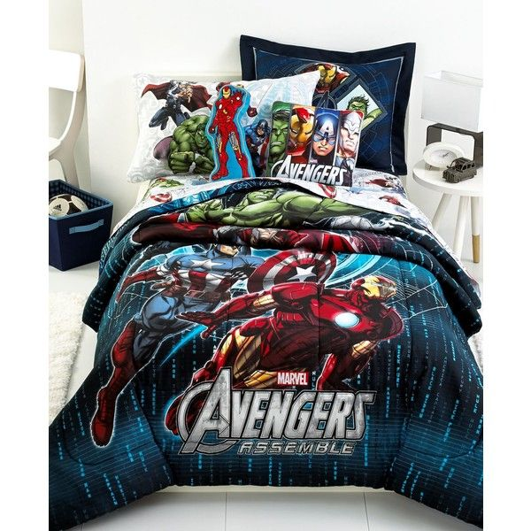 Jay Franco Avengers Twin Comforter Set 60 Liked On Polyvore Featuring Home Bed Bath Bedding Comforters Marvel Multi