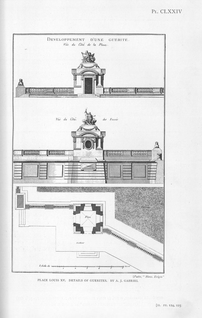 Place De Louis Xv Details Of Guerite Architectural Prints Architecture Drawing Historical Architecture