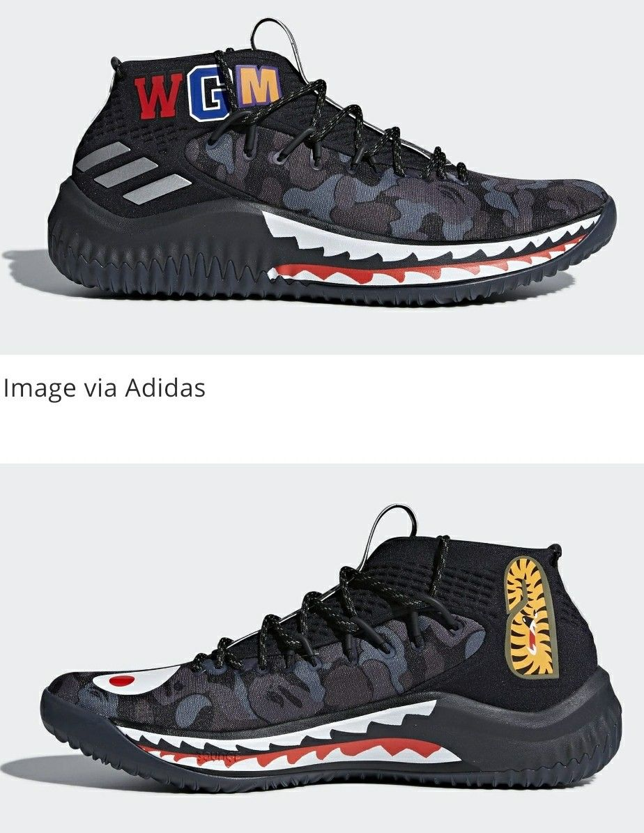 reputable site 8ffed 3e276 The Bape x Adidas Dame 4