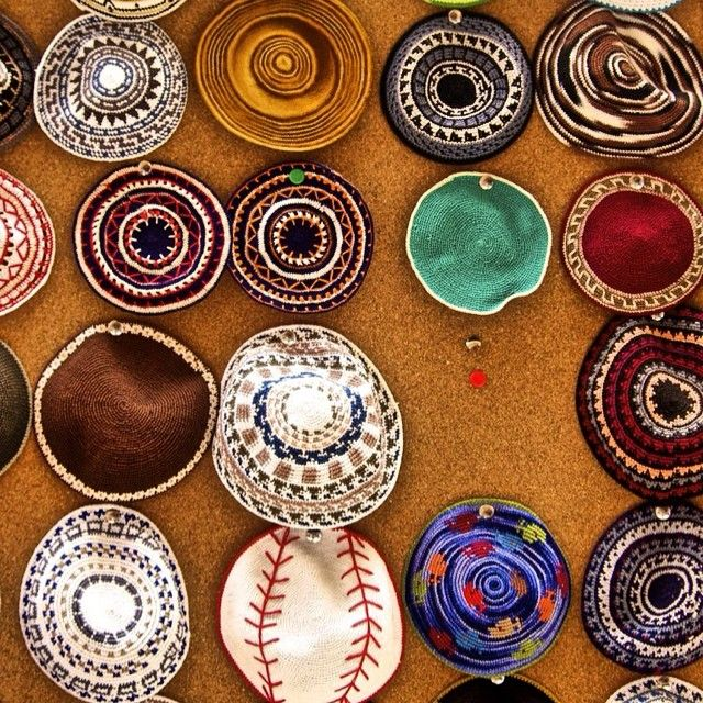 """We love this shot from Israel of different """"kippahs"""" or """"yarmulkes"""" that many of the Jewish men wear. Please pray with us that the OM team in Israel can reach out to their Jewish neighbours and tell them that the Messiah has already come and that He wants to redeem them."""