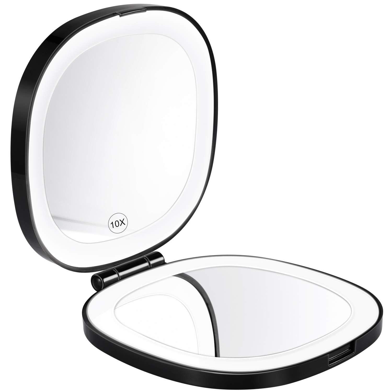 Kedsum 2020 Version Rechargeable Led Lighted Travel Makeup Mirror 1x 10x Magnifying Compa Amazon Affiliate In 2020 Travel Makeup Mirror Makeup Mirror Travel Makeup