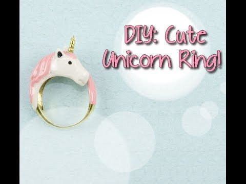A cute unicorn ring ... Super awesome! BTW: First you need to bake it, then can you paint it!