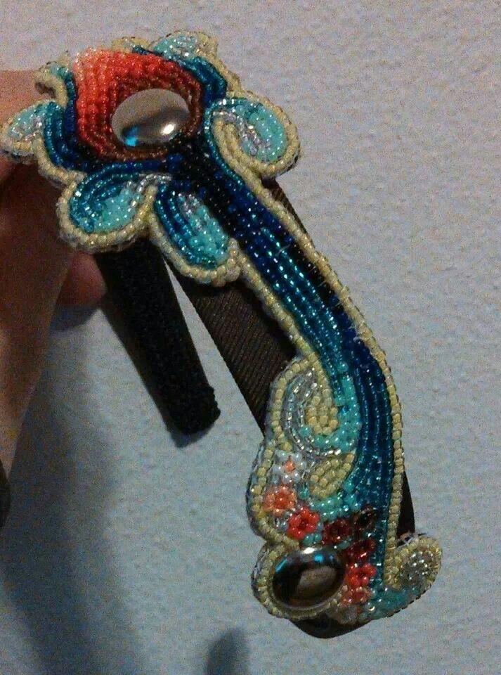 beaded headband seed bead art