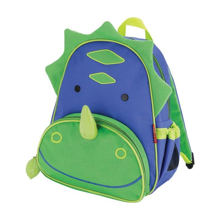 Pin for Later: Rawr! Your Little T-Rex Will Love These 24 Dinosaur School Bags and Lunchboxes Smiley Dino Skip Hop Zoo Little Kid Backpack, Dinosaur ($20)