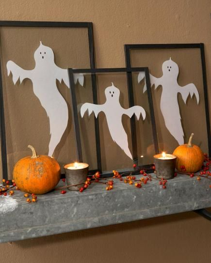 28 Fall Mantel Ideas Mantel ideas, Gourds and Holidays halloween