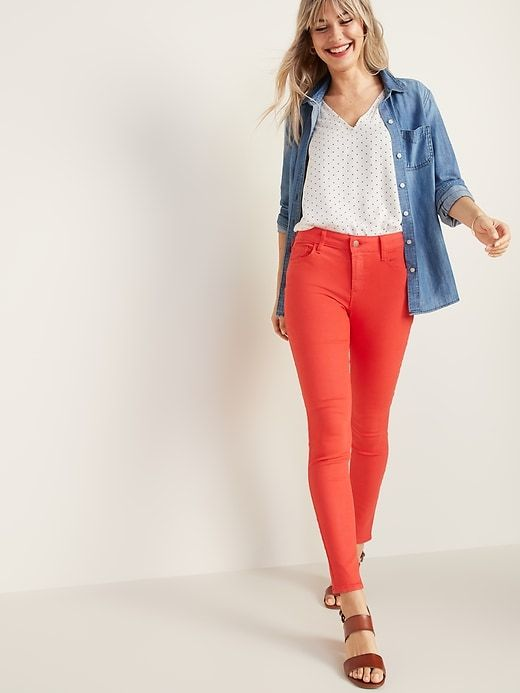 2402014e66 Old Navy Women's Mid-Rise Rockstar Super Skinny Jeans Tamarind Big And Tall  Size 18