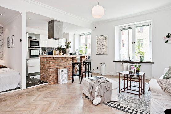 Peque o gran estudio n rdico de 42 m apartamento de una for Design nordico on line