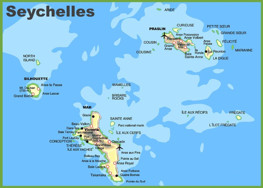 Seychelles Islands Map In 2020 Seychelles Islands Island