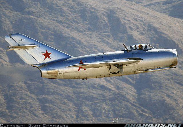 New improved version of Russian MiG-15 fighter,Mig-15bis, during Korean War