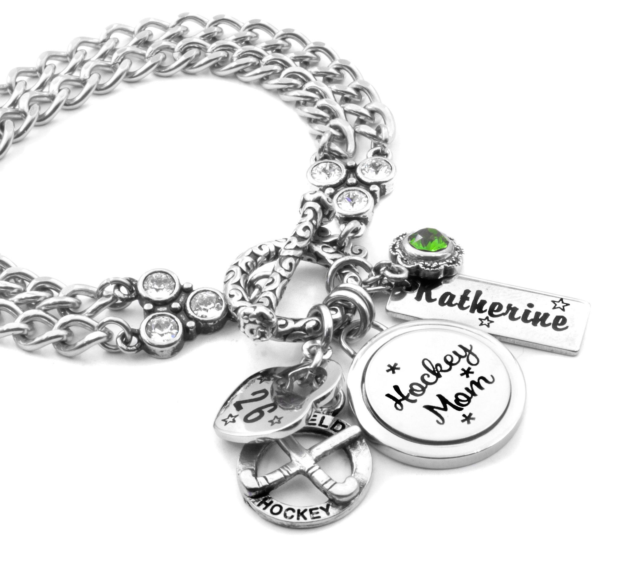 Glyph Etched Heart With Field Inside Small Tattoo: Bracelets, Football Bracelet