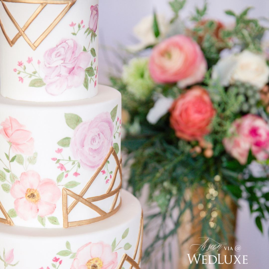 Luxury Wedding Reception With A Perfect And Awesome: This Stunning Closeup Of This Gorgeously Detailed #cake Is