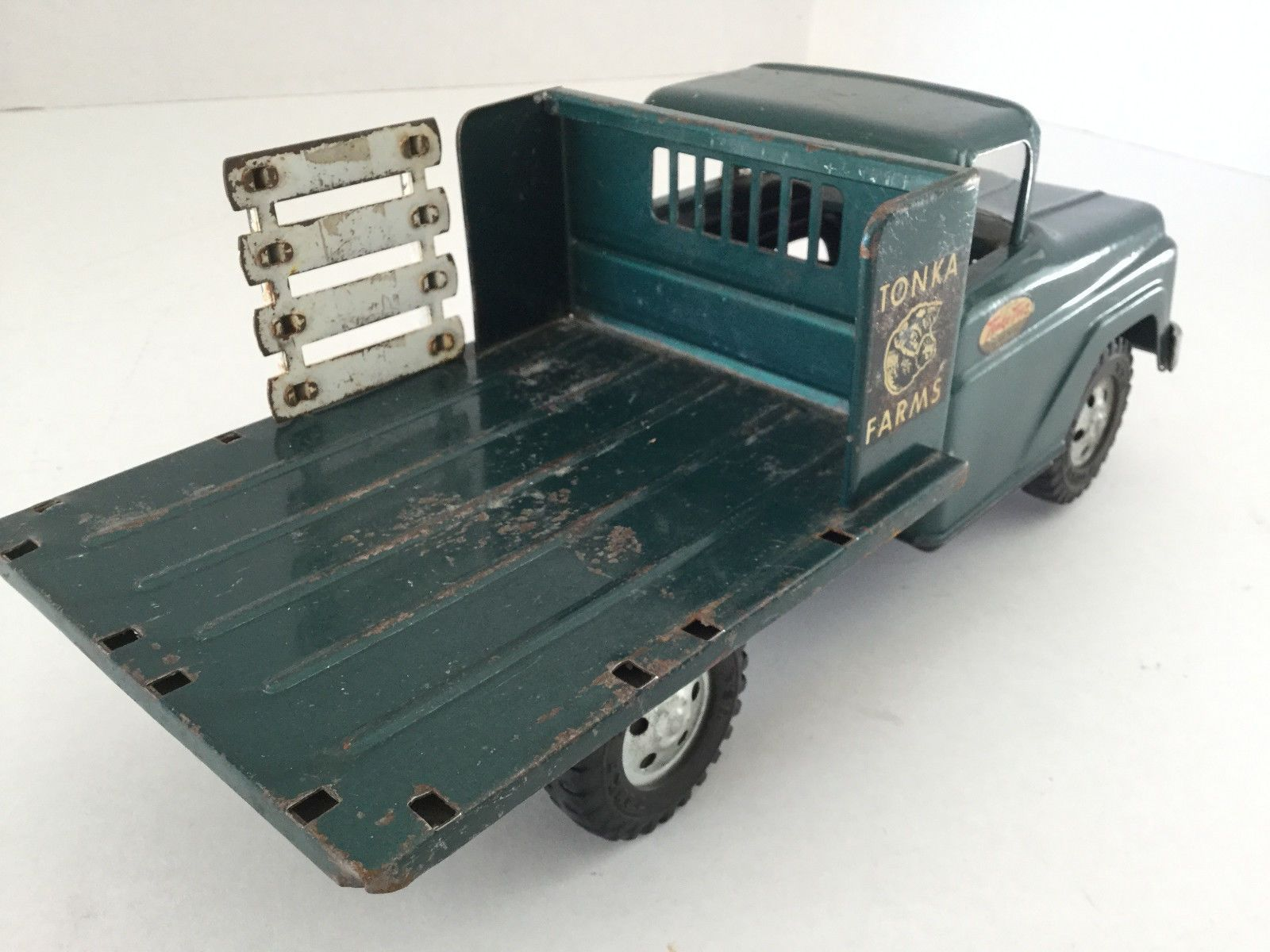 Vintage 1958 Tonka Farms Stake Truck - Dark Green - All Original in Toys, Hobbies, Diecast Vehicles, Cars, Trucks & Vans, Vintage Manufacture | eBay