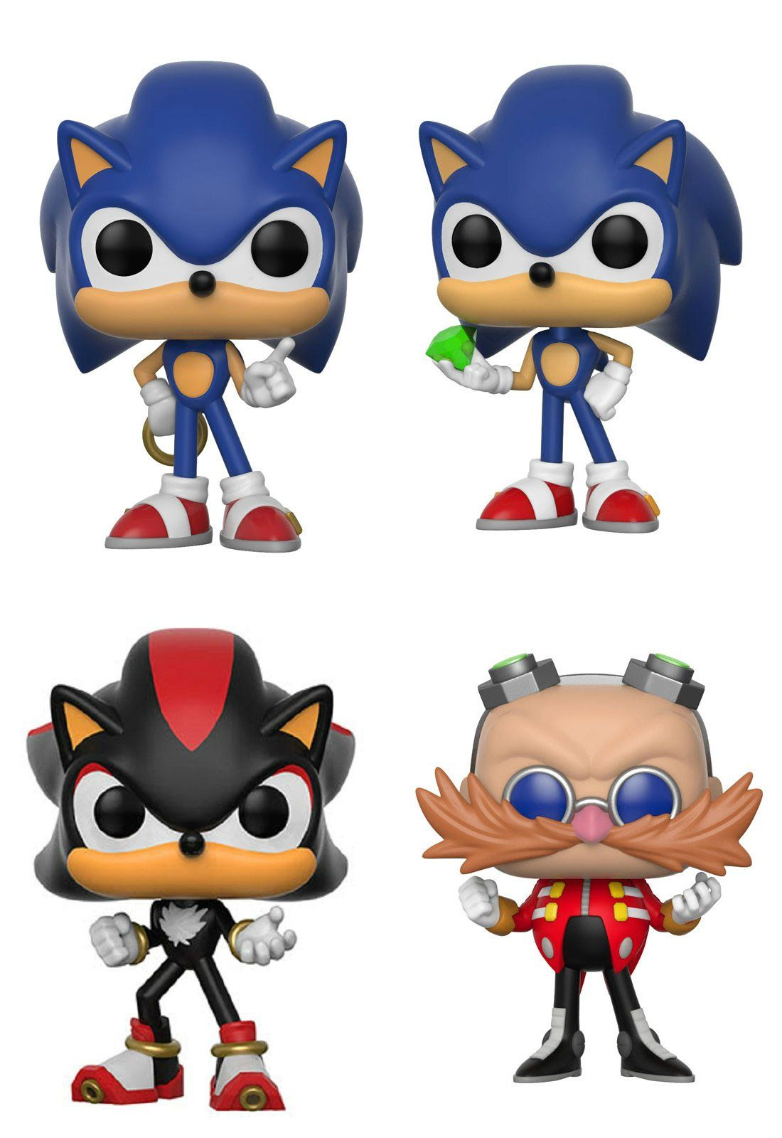 SONIC The Hedgehog Sonic With Rings Collection Figure Cartoon Character