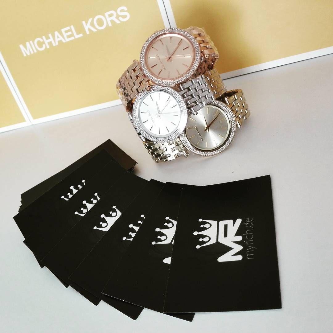 Michael Kors Gold Ros Silver Myrichde Watch Style Uhr Trend 3131