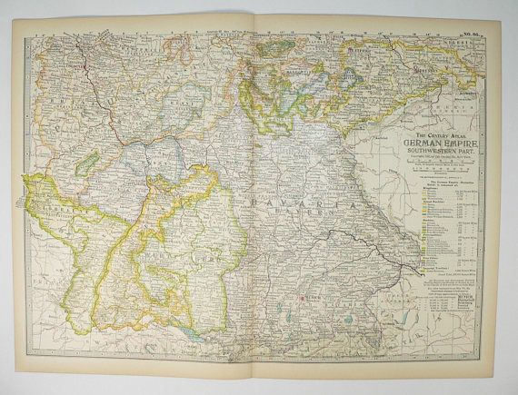 1899 southwest germany vintage map german empire frankfurt 1899 southwest germany vintage map german empire frankfurt munich germany bavaria germany sciox Image collections