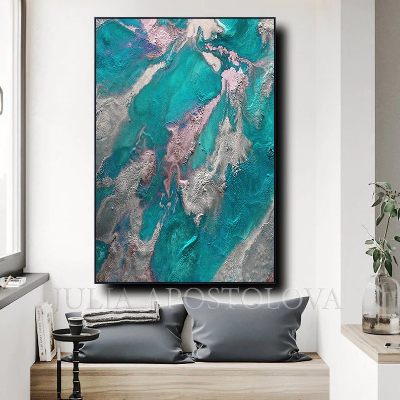 Earth Abstract Teal Wall Art Painting Marble Wall Art Decor Etsy In 2020 Teal Wall Art Turquoise Wall Art Wall Art Painting