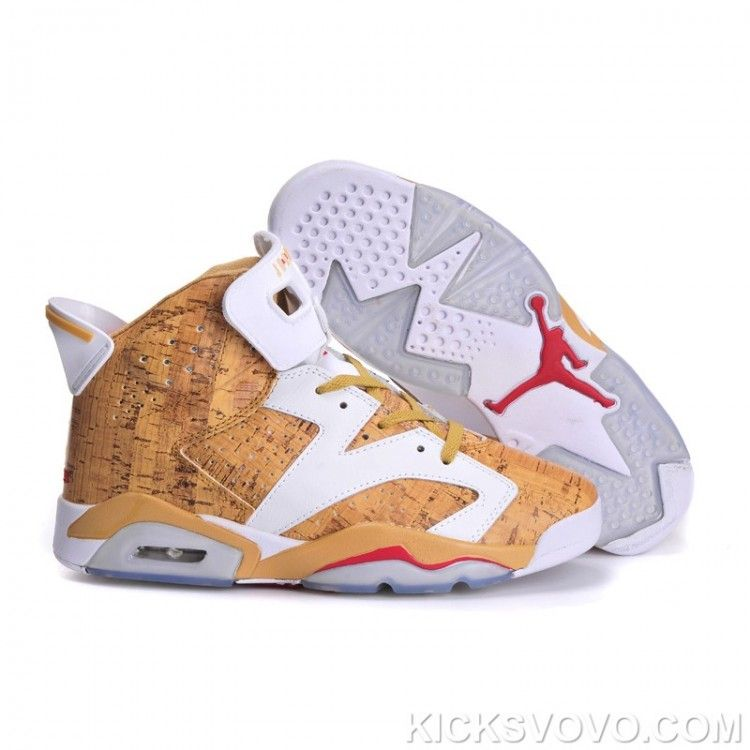 Women's Air Jordan 6 Air Sole High Yellow White at kicksvovo.com