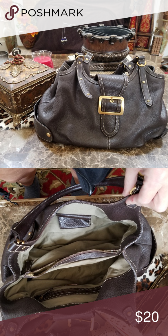 f6af52ed8e3 Brown hobo purse Beautiful hobo purse with gold buckle . Lovingly used . Bags  Hobos