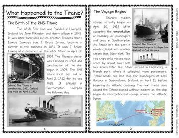 Titanic Nonfiction Text Feature Interactive Notebook 3 Primary Source Articles To Read And Compare Text Features Nonfiction Text Features Nonfiction Texts