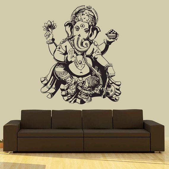 Wall Decal Vinyl Sticker Decals Art Decor Design Elephant Ganesh