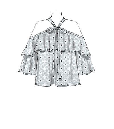 McCalls Pattern M7573 Misses Ruffle Tops – Size 14 – 16 – 18 – 20 – 22