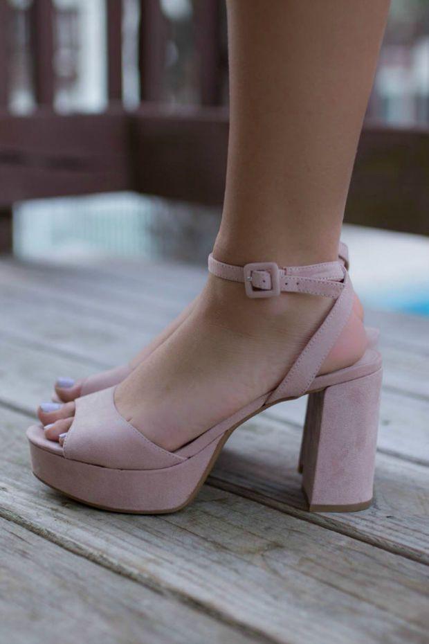 Chinese Laundry Theresa Micro Suede Rose Heels Heels Microsuede