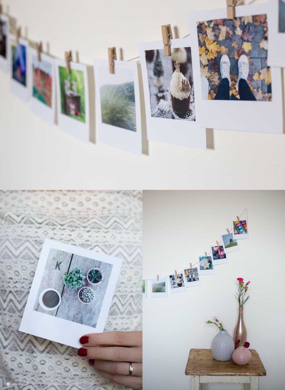 diy gutschein girlande aus polaroid fotos - diy geschenkideen