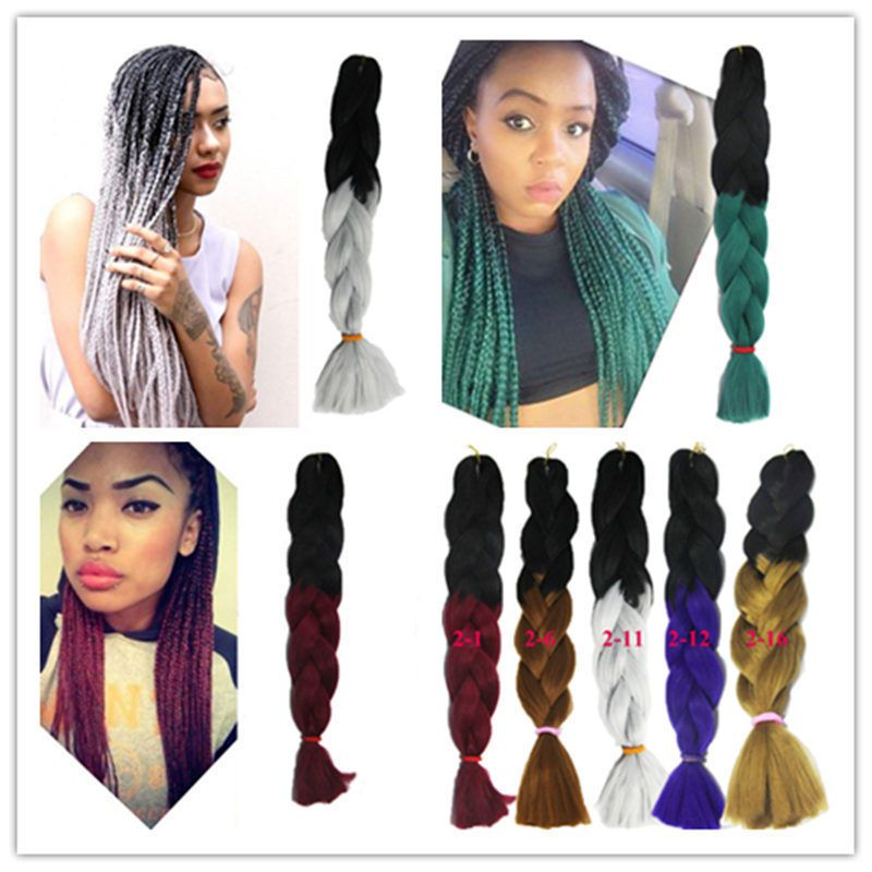 1bundle Ombre Synthetic Jumbo Braid Xpression Crochet Hair